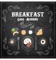 Chalkboard Breakfast Menu vector image