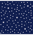 Star Polka Dot Dark Blue Background vector image