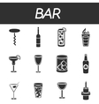Bar icons set vector image