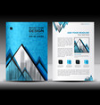 business brochure flyer template in a4 size vector image