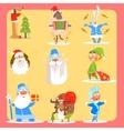 Christmas Icon Set Collection vector image