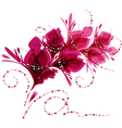 Floral background stylized flowers vector image