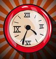Retro Clock Flat Design Long Shadow vector image