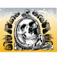 the grateful skull illustration vector image