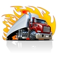 Cartoon Semi Truck One-click repaint vector image