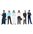 arabic business man people muslim arab office vector image