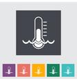 water temperature vector image vector image