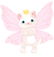 Cute Fairy Cat vector image vector image