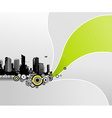 City with abstract background vector image vector image