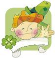 happy leprechaun vector image vector image