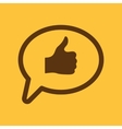 Thumbs up in the speech bubble icon Social vector image