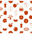 apple theme red simple seamless pattern eps10 vector image