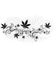 marijuana cannabis hemp leaf symbol texture vector image