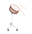A Beautiful Snare Drum on White Background vector image
