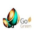 Go green nature concept vector image