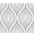 Line Black and White Decorative Pattern vector image