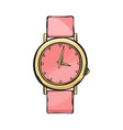 pink glamorous women watch isolated vector image