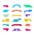 set of retro ribbons isolated vector image