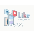 Social media concept design vector image