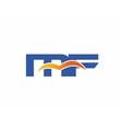 MF Logo Graphic Branding Letter Element vector image