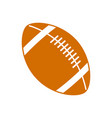 american football ball equipment sport image vector image