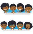 young african american teens having fun in vector image vector image