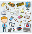 Businessman With Tools vector image vector image