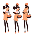 Fashionable pregnancy vector image vector image