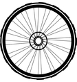 bike wheel black silhouette vector image vector image
