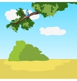 Idyllic natural landscape with bird vector image