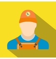 Auto mechanic avatar flat icon with shadow vector image