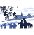 extreme bikers vector image