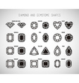 Diamond and gemstone shape set vector image vector image