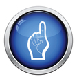 American football foam finger icon vector image