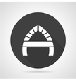 Arch with partition black round icon vector image
