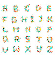 Bubble Letters vector image