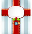 Christmas card background with ribbon vector image