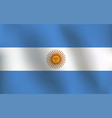 flag of argentina - vector image