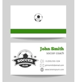Soccer club business card green vector image