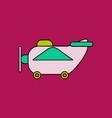 flat icon design collection retro plane toy vector image