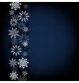 black snow background vector image vector image