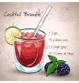 Alcoholic cocktail Bramble