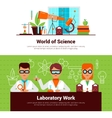 Science And Laboratory Work Banners vector image