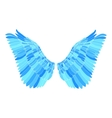 Blue wing vector image