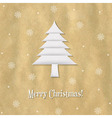 Christmas Paper Card With Paper Fir-tree vector image