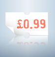 Clean white price tag vector image