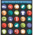 Creative icons on of golf in flat style vector image