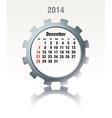 December 2014 - calendar vector image