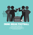 Drink Break Football Symbol vector image
