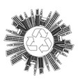 figure city with build and help environment icon vector image